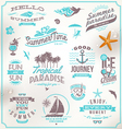 set travel and vacation emblems and symbol vector image vector image
