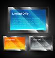 shiny display box vector image