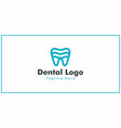 simple logo design teeth or dental health vector image