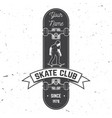 skate club badge vector image vector image