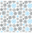 snowflakes seamless pattern christmas and new vector image