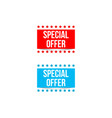 special offer banners with shadows on white vector image