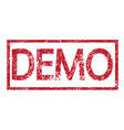 stamp text demo vector image vector image