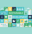 sustainable development goals and living vector image vector image