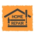 tools and symbol house vector image vector image