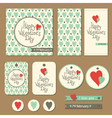 valentines cards set vector image vector image