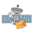 with envelope satelite character cartoon style vector image vector image