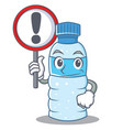 with sign bottle character cartoon style vector image