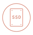 Solid state drive line icon vector image