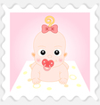 Sweet Cartoon Baby Girl vector image