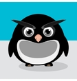 Abstract cute angry pinguin on a blue background vector image