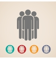 icons of people group vector image