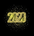2020 glitter typography design gold sparkling vector image vector image