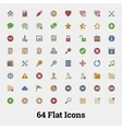 64 Glyph icons for web and mobile application vector image vector image