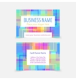 Abstract pixel squared business cards vector image