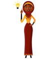 arab muslim kuwait persian business woman vector image vector image