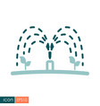 automatic irrigation sprinkler icon vector image vector image