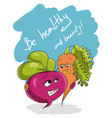 be healthy and beauty slogan health food vector image