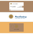 beautiful sunflower logo and business card vector image
