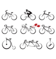 bicycles icons set vector image vector image