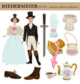biedermeier old german austrian clothes vector image vector image