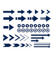 big arrow icons set collection vector image