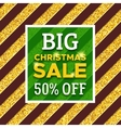 Big Christmas Sale 50 percent off promotion banner vector image vector image