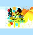 bike riders seasonal2018 vector image vector image