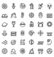 biophysics icons set outline style vector image vector image
