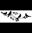 birds on a tree branch vector image vector image