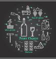 black banner winemaking - wine bottle and glass vector image vector image