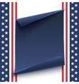 blue curved paper banner on top american vector image vector image