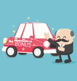 Boss businessman give a car is RedGifts vector image vector image