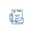 branding identity line icon concept branding vector image