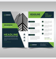 business flyer design template vector image vector image