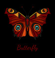 butterfly embroidery vector image