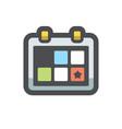 calendar weekly notepad icon cartoon vector image
