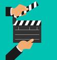 cinema lights camera action flat vector image vector image