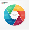Circle chart infographic template for data