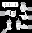 Coffee to Go set vector image vector image