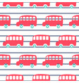 cute london city buses seamless pattern wallpaper vector image