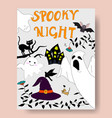 cute spooky night halloween seasonal vector image
