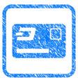 dash credit card framed stamp vector image vector image