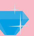 diamond luxury isolated icon vector image