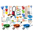 Different household tools and equipments vector image vector image