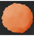 drop of orange color on black paper background vector image