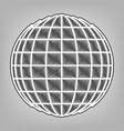 earth globe sign pencil sketch imitation vector image vector image