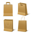 empty paper shopping bags set vector image vector image