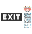 Exit Label Icon With 2017 Year Bonus Symbols vector image vector image