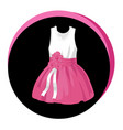 fashion stylish dress icon elegant vector image vector image